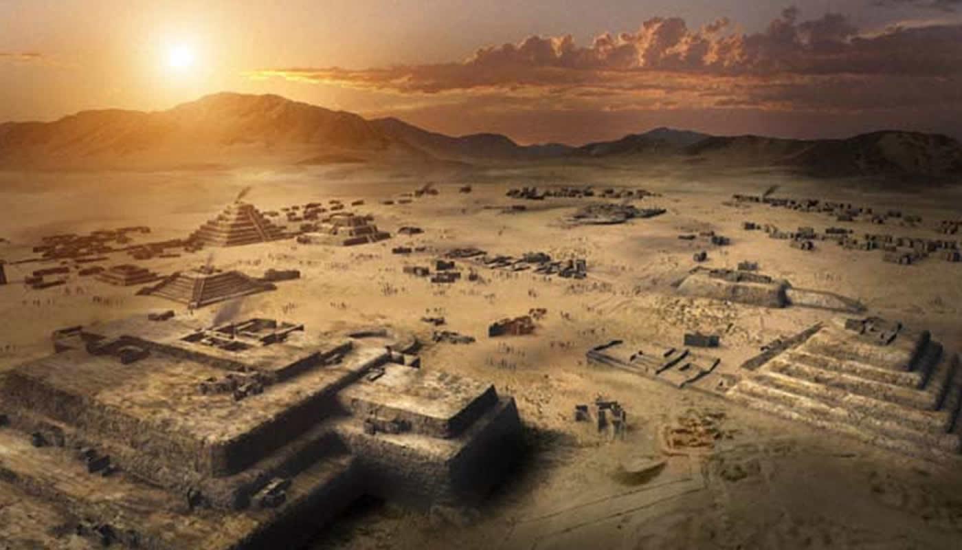 Resultado de la imagen para la antigua ciudad de caral